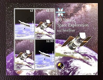 1 Union Island Sheet Perforated With Space And Telescope