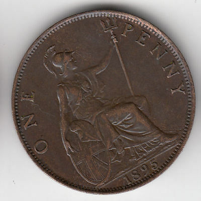 Gb 1D 1895 Victoria Scarce         119A            By Coinmountain