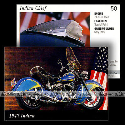 #IL50 ★ INDAIN CHIEF (1947) ★ Fiche Moto Classic Motorcycle Card