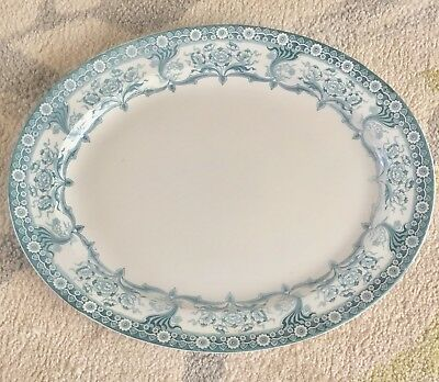 Vintage Blue And White Meat Platter