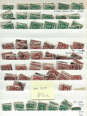 KGV - Ex dealers stock on 4 s/cards, many hundreds to 1934, as scans - Ref 1401