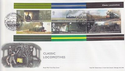 Gb Stamps Mini Sheet First Day Cover 2004 Railway New St Rare Pmk Collection