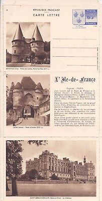 France 1938 white paper illustrated fold-out stationery unused, no 4