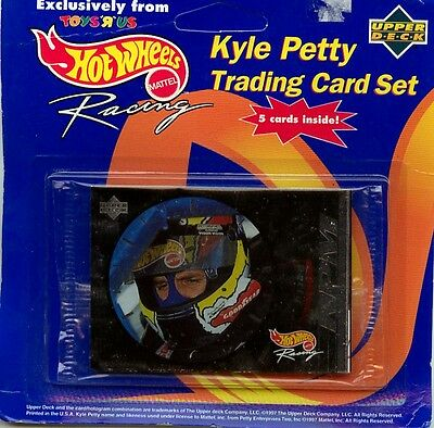 Kyle Petty - Nascar - Trading Cards Set Upper Deck Toys'r'us Hot Wheels 1997 Ovp