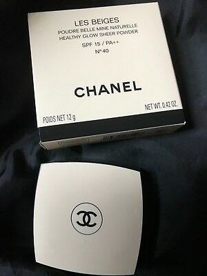 CHANEL LES BEIGES HEALTHY GLOW SHEER POWDER SPF15 No.40 BRAND NEW IN BOX