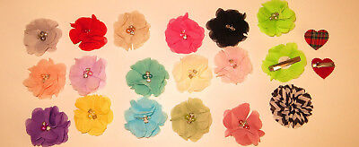 Bridesmaids,Flower Diamond Bead Corsage Hair Clips Fascinator Hairband PinTartan
