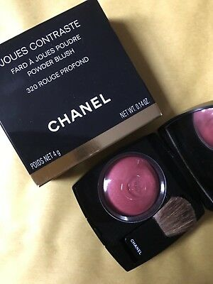 Chanel Joues Contraste Powder Blush 320 Rouge Profond New In Box