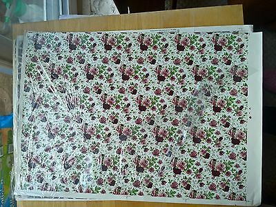 Ceramic Waterslide Transfer Sheet Pink Roses