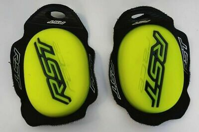 RST Flo Yellow Knee Sliders For Road / Race Leathers or Trousers 1921