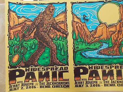 WIDESPREAD PANIC PRINT Uncut GOLD ICE EDITION. #14/15 Signed Bend OR. JEFF WOOD