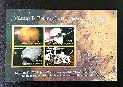 1 Togo Sheet Imperforated With Space And Viking 1