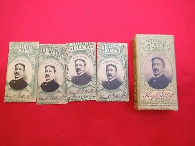 Vintage Gillette Safety Razor Blades; Original Package