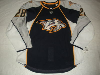 2010-11 Steve Begin Nashville Predators Game Issued Navy Reebok Jersey
