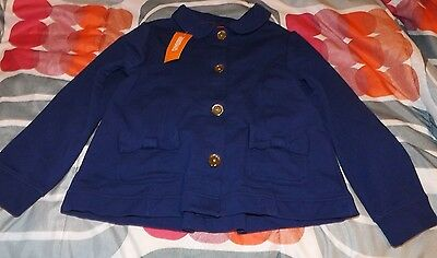 girls gymboree mod about orange jacket size 7-8 nwt