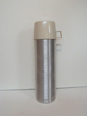 1960s Ribbed King Seely Genuine Thermos Brand Vacuum Bottle