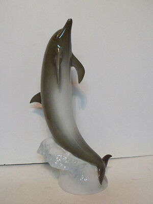 """Mint Large Royal Dux Dolphin Figure 14 1/2"""" tall"""