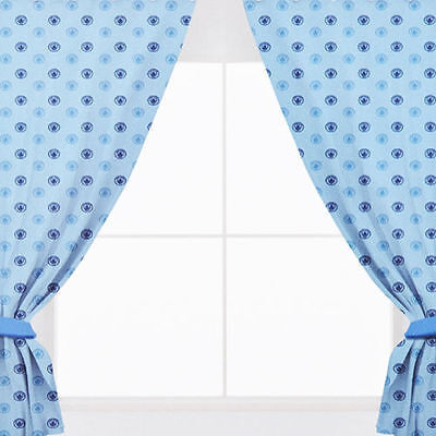 EXTRA LARGE Manchester City Football Club Pair Of Boys Curtains - 66 x 72 Inch