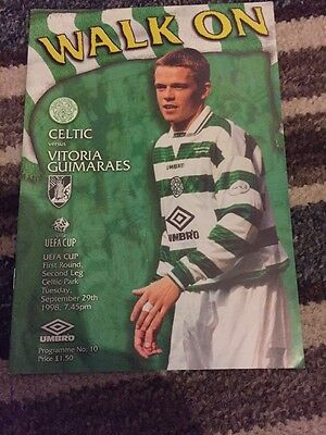 Celtic V Vitoria Guimaraes 29th September 1998 UEFA Cup