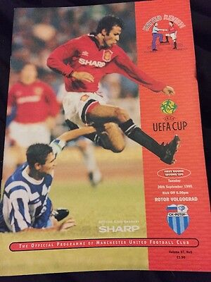 Manchester United V Rotor Volgograd 26th September 1995 UEFA Cup