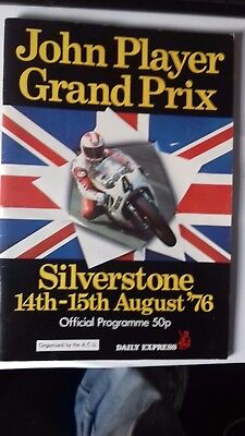 John Player Motorcycle Grand Prix Silverstone 1976 Programme good condition