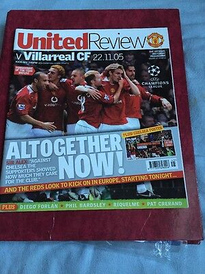 Manchester United V Villarreal 22nd November 2005 Champions League Group Stage