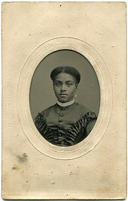 Very Pretty Black Girl Civil War Era Potters Patent March 7 1865 Tintype Photo