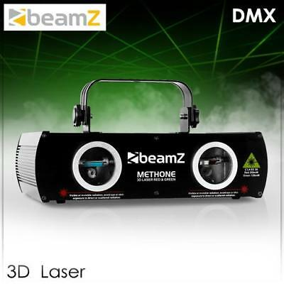 Mega 3D Laser Beamz Methone Dmx Rot Grün Disco Event Strahler Party Licht Effekt