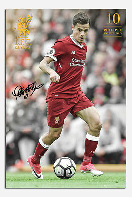 Liverpool FC Coutinho 2017 / 2018 Season Poster New - Maxi Size 36 x 24 Inch
