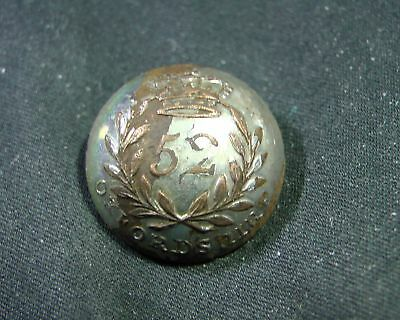 1803 52nd Oxsfordshire Light Infantry Reg't of Foot Silver Coat BUTTON I McGowan