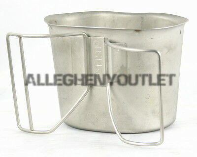 MINT USGI Military Stainless Steel BUTTERFLY CANTEEN CUP NSN 8465-00-165-6838