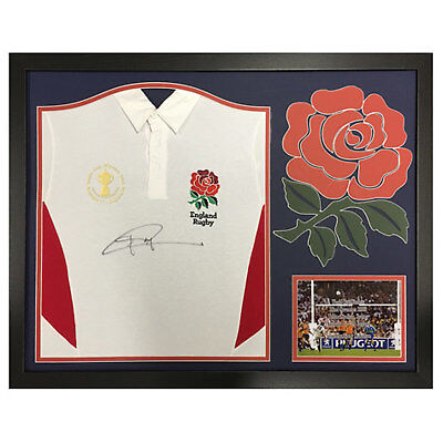 Jonny Wilkinson Signed Framed England Rugby Shirt with World Cup Final Patch