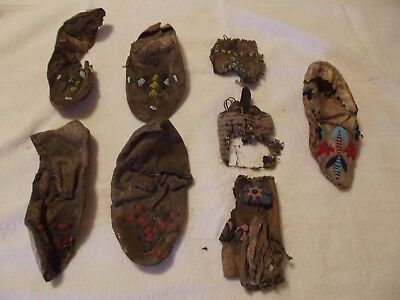 9. Sioux Beaded Moccasins And Other Items.circa 1900.