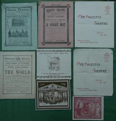 Collection of Victorian Theatre Programmes