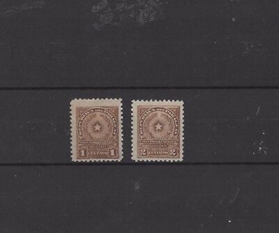 PARAGUAY , POSTAGE DUE, 1913, 1c & 2c BROWN, MH