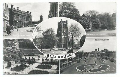 Lancashire, Five Different Views In And Around Blackburn. B&w Real Pc