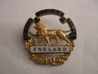 Rare Old Pre War Empire Games England Team Competitor Enamel Brooch Pin Badge