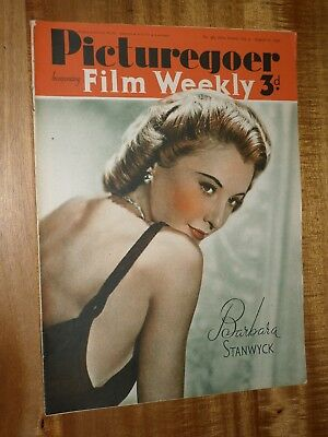 Picturegoer August 17th 1940  Barbara Stanwyck  Cover