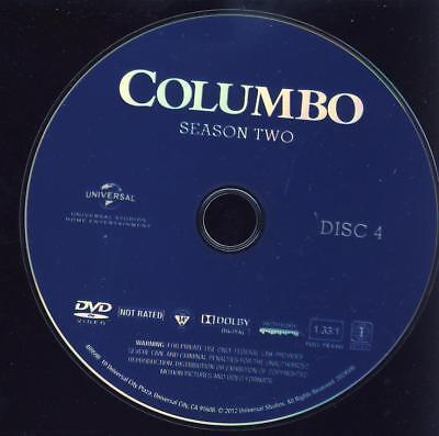 TV REPLACEMENT DVD: COLUMBO, SEASON 2 (TWO SECOND) DISC 4 (four fourth