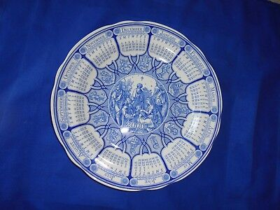 "Spode Blue Room Calendar plate ""2000"" - Made in England - Boxe"