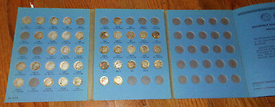 Roosevelt Dimes-In Folder-38 In All-1946 To 1964-Circulated And Used-Collectible