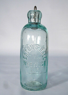 Eaton Hall Warwick Ny Orange County New York  Hutch Soda Or Mineral Water Bottle