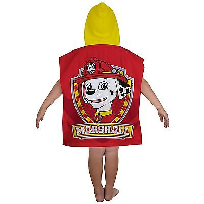 Paw Patrol 'rescue' Hooded Towel Poncho New Kids 100% Official