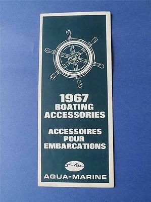 Boating Accessories Fold Out Flyer Catalog 1967 Aqua Marine Toronto Canada