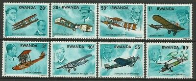 Aviation-Air-Aircrafts-1978 Rwanda-MNH Complete Set