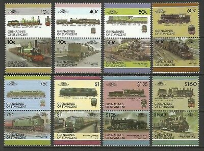 Rail Transport-Trains-1986 Grenadines of St. Vincent-MNH Complete Set
