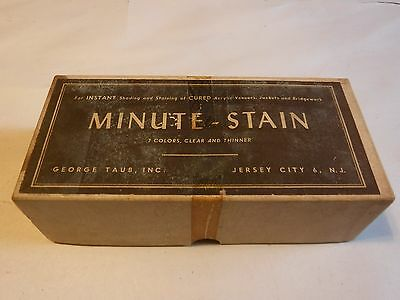 """VINTAGE Dental Office """"Minute-Stain"""" 1960's Stain Kit IOB with Orig Bottles"""