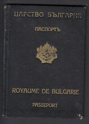 Passport - Bulgaria Issued 1942 Sofia Visas Germany Croatia Hungary etc