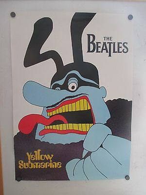 Vintage England Exclusive Beatles Yellow Submarine Blue Meanie Poster 1999