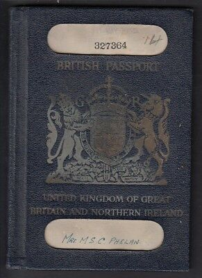 Passport - UK Issued London 1935 Entries Germany, Austria, Hungary