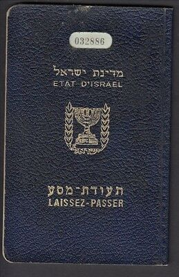 Passport - Israel Issued Jerusalem 1950 US Visa various entries